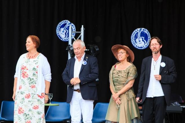 Den Gyllene Freden, från vänster till höger; Anna Bornemark, Birger Sölverud, Helene Skogspil och Samuel Trygger.
