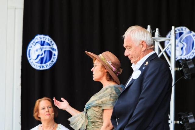 Den Gyllene Freden, från vänster till höger; Anna Bornemark, Helene Skogspil och Birger Sölverud.