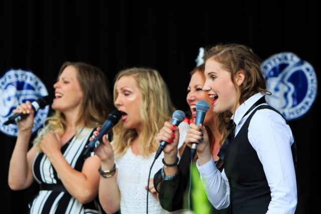 Kvartett ur Malmö Limelight Chorus.